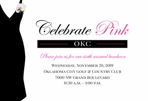 Celebrate Pink OKC 2019 invitation